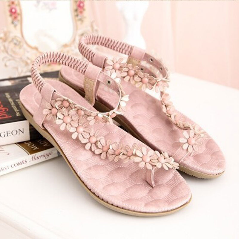 Women Floral Strap Flat Heel Sandals | Online Shopping in Pakistan: Fashion, Artificial Jewellery & Accessories