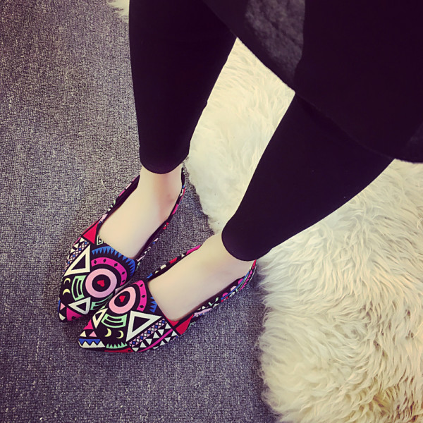 Women Shoes Canvas Flats Pointed Toe Online Shopping In Pakistan