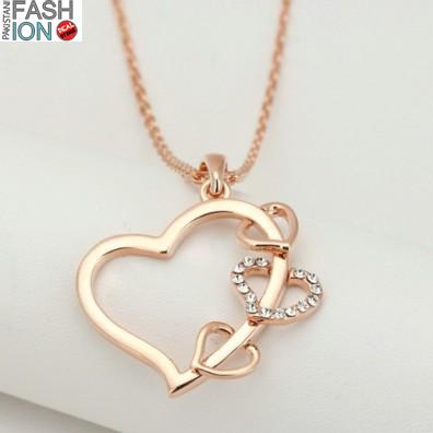 Concise heart rose gold color pendant online shopping in concise heart rose gold color pendant mozeypictures Choice Image