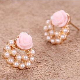 Vintage Simulated Pearl Beads Drop Earrings Online Shopping In